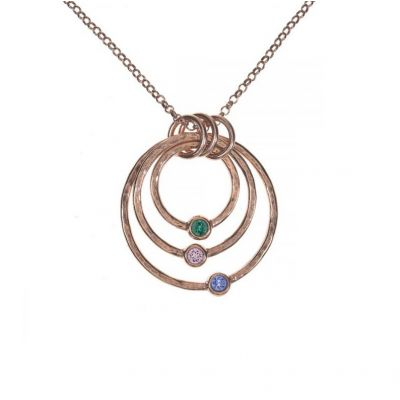 Spheres of Love Necklace Hammered [Rose Gold Plated]