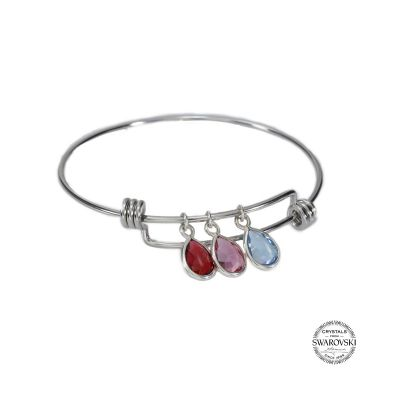 Enchanted Rain Adjustable Birthstone Bracelet [Sterling Silver]