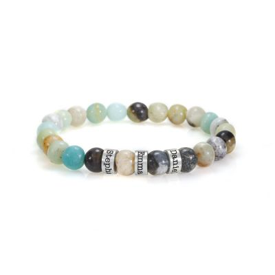 Amazonite Women Name Bracelet