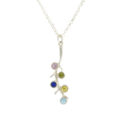 Roots of Love Necklace Vertical [Sterling Silver]