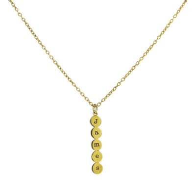 Bubble Initials Personalized Necklace [Gold Plated]