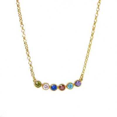 Joys of Life Birthstone Necklace [Gold Plated]
