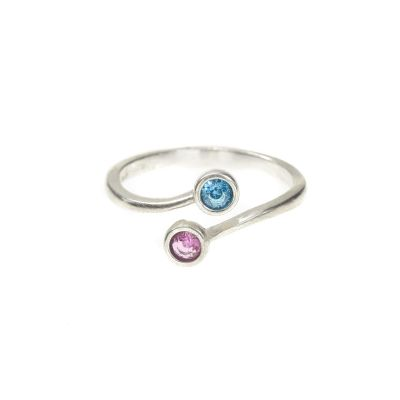 Roots Of Love Ring – 2 Stones [Sterling Silver]