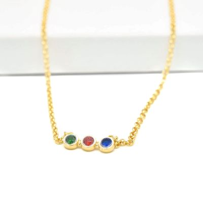 Talisa Stars Necklace Horizontal [10K Gold]