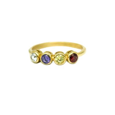 Talisa Stars Birthstone Ring [10K Gold]