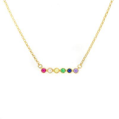 Rainbow Talisa Stars Necklace Horizontal [Gold Plated]