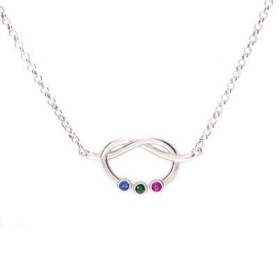 Lucky Ties Birthstone Necklace [Sterling Silver]