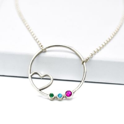 A Mother's Heart Necklace [Sterling Silver]