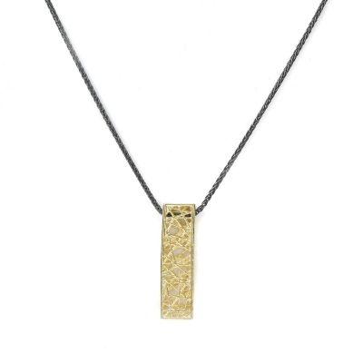 Threads of Life Vertical Bar Necklace [10K Gold]