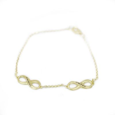 Infinity Bracelet [Gold Plated]