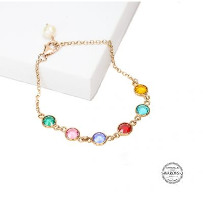 Enchanted Charms Birthstone Bracelet [Rose Gold Plated]