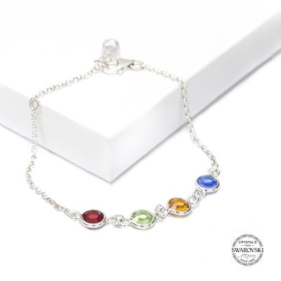 Enchanted Charms Birthstone Bracelet [Sterling Silver]