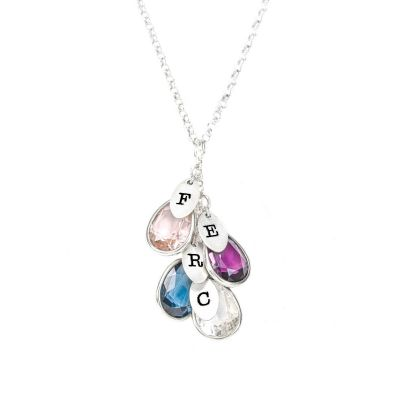 Enchanted Rain Initials Necklace [Sterling Silver]
