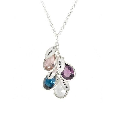 Enchanted Rain Name Necklace [Sterling Silver]