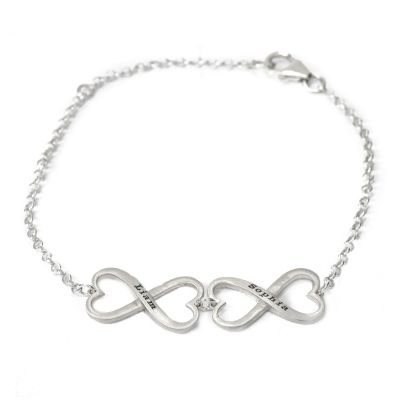 Infinite Love Name Bracelet [Sterling Silver]