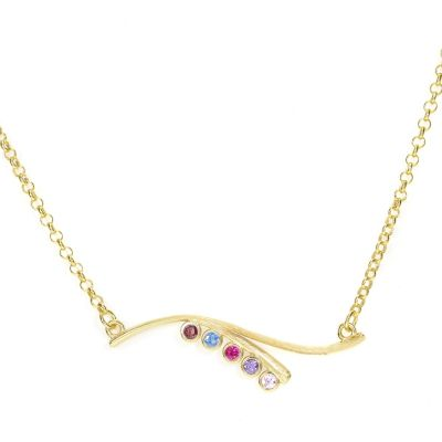 Ocean Tide Birthstone Necklace [Gold Plated]