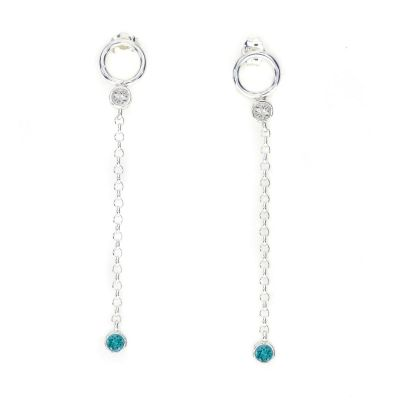 Personal Gem Earrings [Sterling Silver]