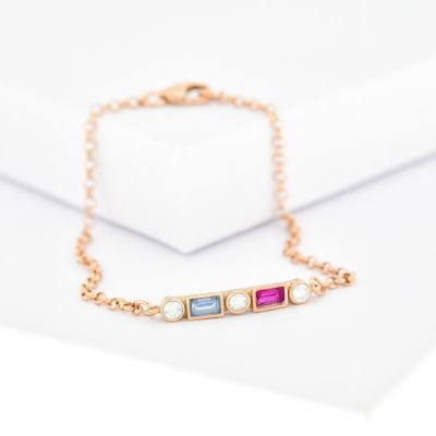Bracelet d'Amour Éblouissant [Plaqué Or Rose]