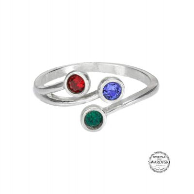 Roots Of Love Ring – 3 Stones [Sterling Silver]