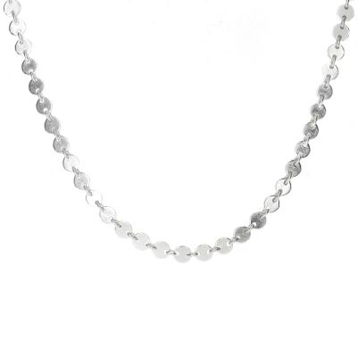 Silver Chain From 2mm Circles