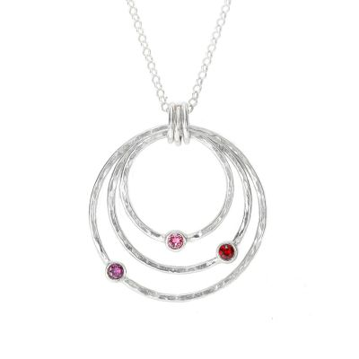 Spheres of Love Necklace Hammered [Sterling Silver]