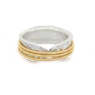 Spheres of Love Spinner Ring Shiny [Sterling Silver]