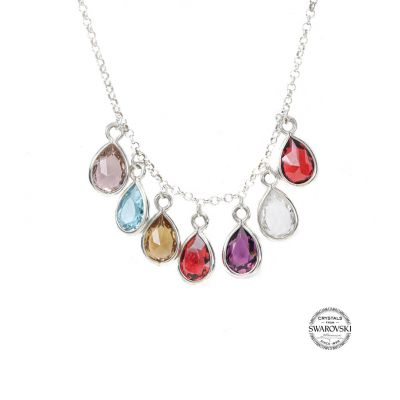 Sunshower Birthstone Necklace [Sterling Silver]