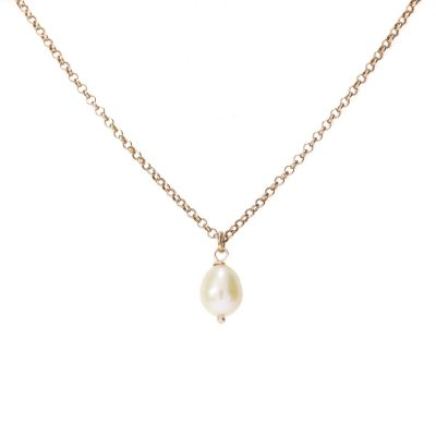 Collier Perle [Plaqué Or Rose]
