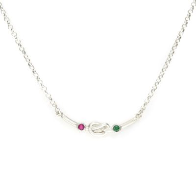 Collier Liens de l'Amour Horizontal [Argent Sterling]