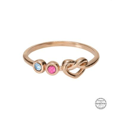 Ties of The Heart Birthstone Ring [Rose Gold Plated]
