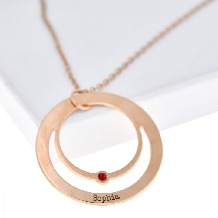 Rays of Love Necklace [Rose Gold Plated]