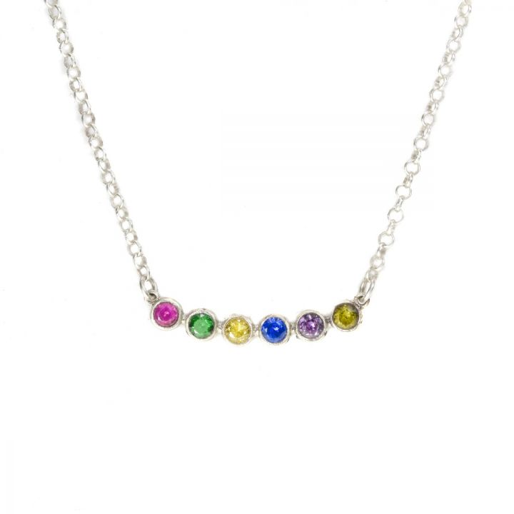 Joys of Life Birthstone Necklace [Sterling Silver]