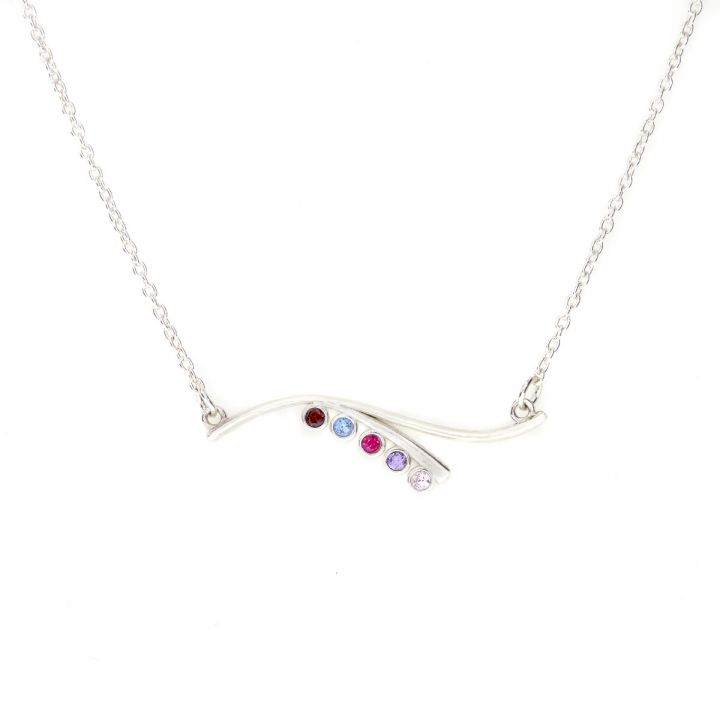 Ocean Tide Birthstone Necklace [Sterling Silver]