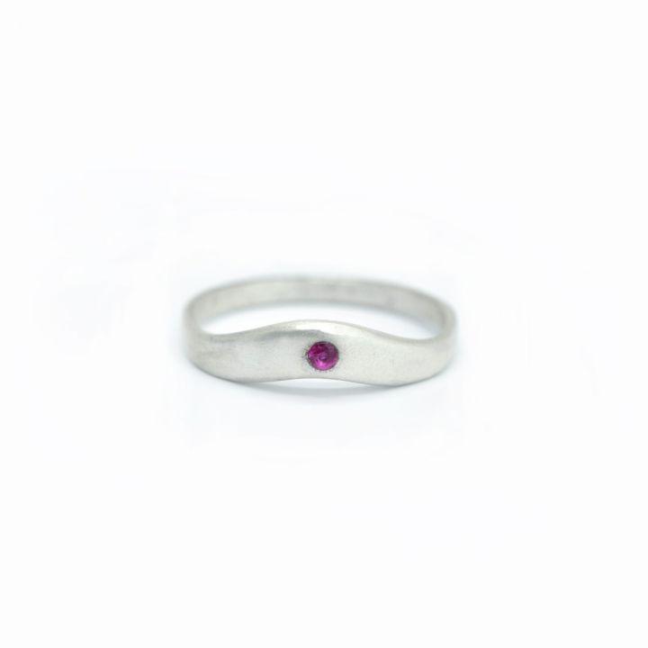Sky Birthstone Ring [Sterling Silver]