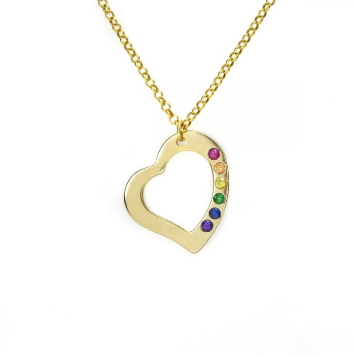 Rainbow Guiding Love Necklace [Gold Plated]