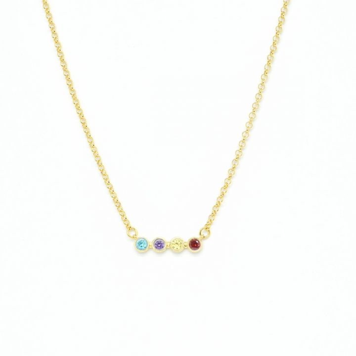 Talisa Stars Necklace Horizontal [Gold Plated]