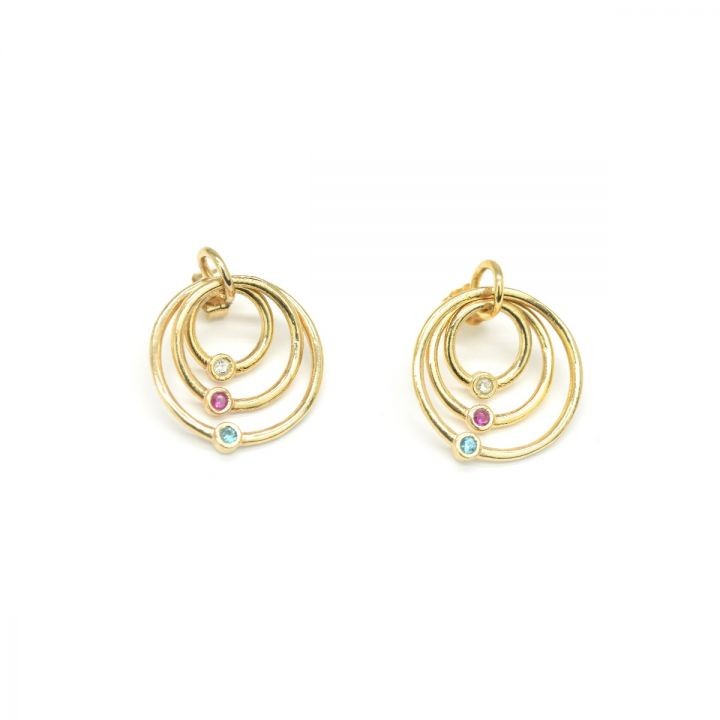 Spheres of Love Earrings [Gold Plated]