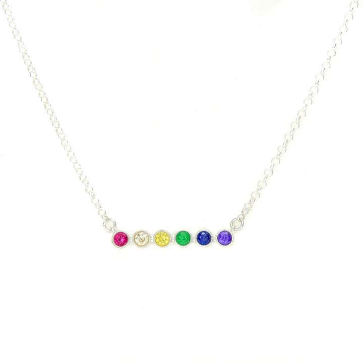 Rainbow Talisa Stars Necklace Horizontal [Sterling Silver]