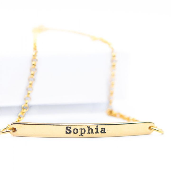 My Favorite Word Bracelet [Gold Plated]