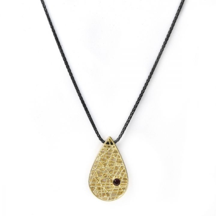 Threads of Life Big Drop Birthstone Necklace [10K Gold]