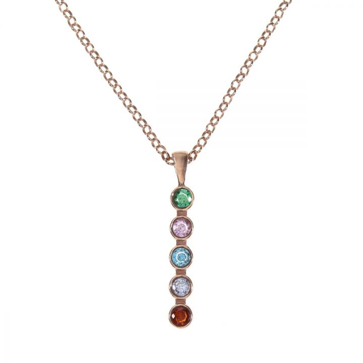 Talisa Stars Necklace Vertical [Rose Gold Plated]