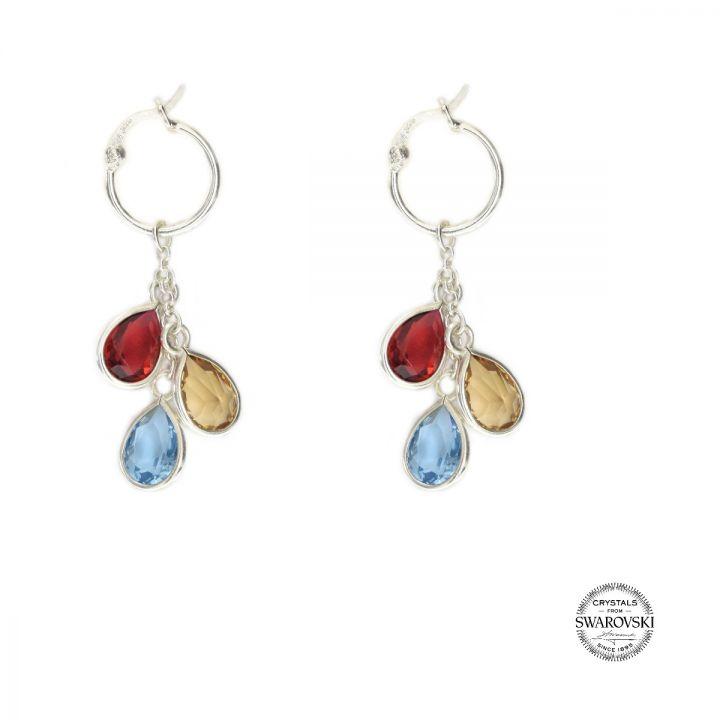 Enchanted Rain Hoop Earrings [Sterling Silver]