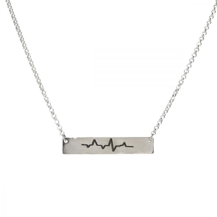 Talisa Beat Bar Necklace [Sterling Silver]
