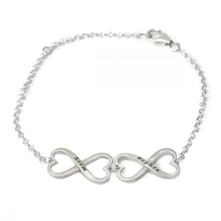 Infinite Love Name Bracelet [Sterling Silver]