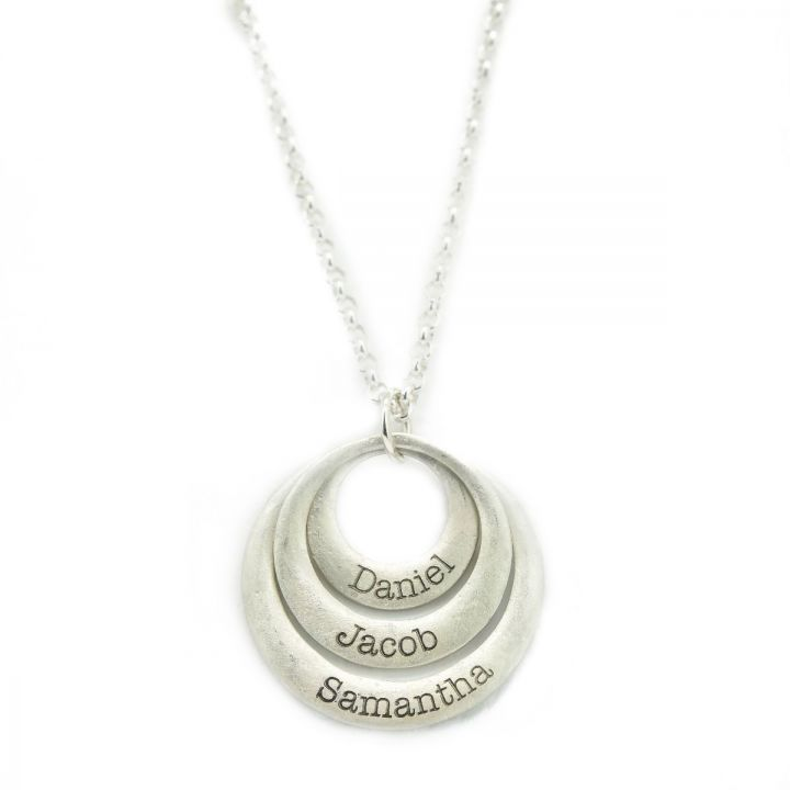 Moon Glow Round Shape Necklace [Sterling Silver]