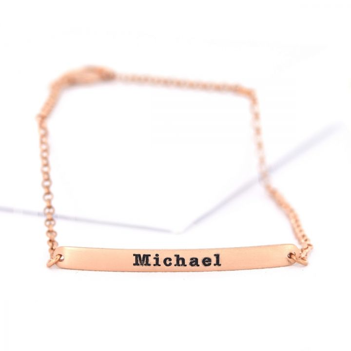 My Favorite Word Bracelet [Rose Gold Plated]
