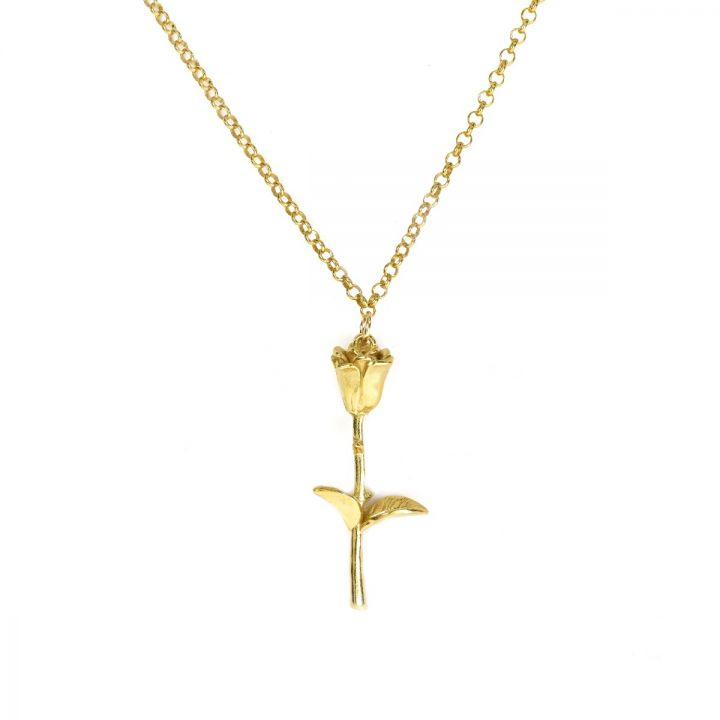 Sweet Rose Necklace [Gold Plated]