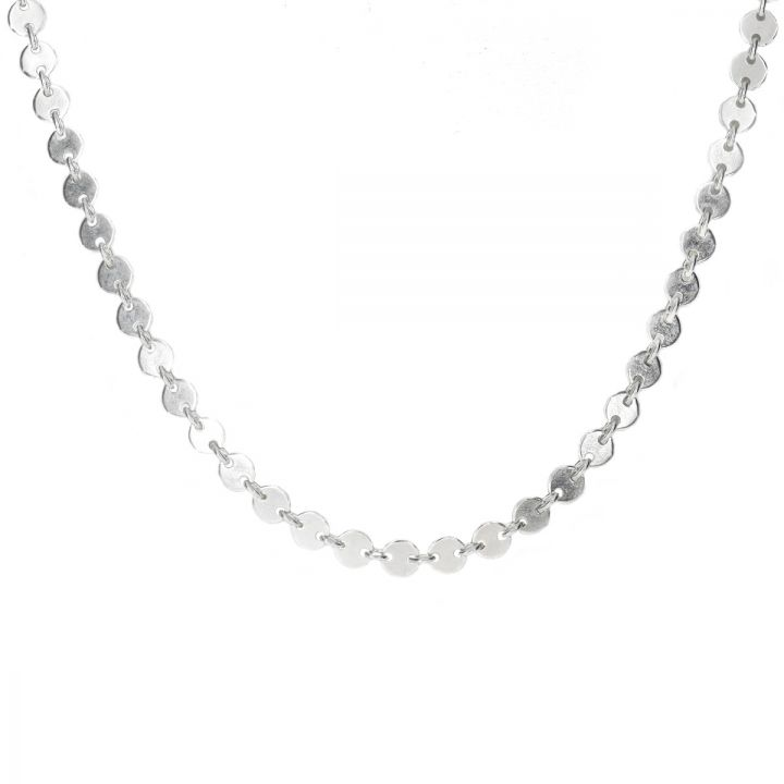Fashionable Sterling Silver Chain With Dainty Spheres