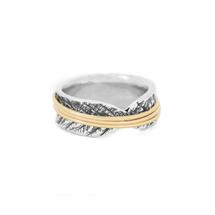 Spheres of Love Spinner Ring [Sterling Silver]