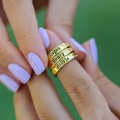 Love Braids Name Ring [Gold Plated]